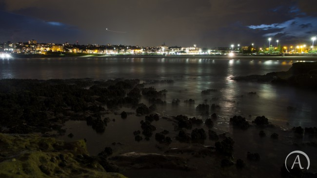 Bondi Beach at night